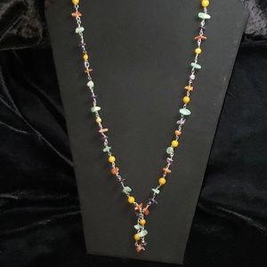 Vintage Polished Gemstone Necklace